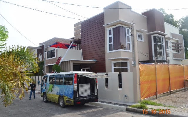 New solar power system in modern subdivision in Angeles City
